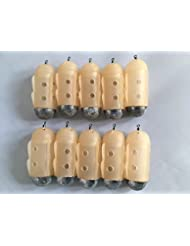 10 Large Deluxe Finned Maggot feeders for carp barbel fishing by BZS