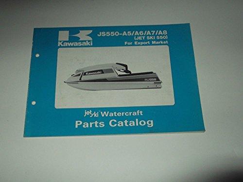 PARTS CATALOG KAWASAKI JS 550-A5-A6-A7-A8 (JET SKI 550) 1986-1989 WATERCRAFT