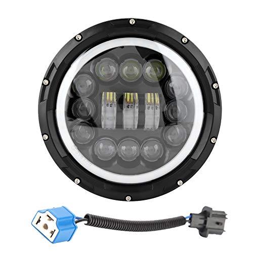 Kimiss 9-30 V 7 in 400 W H1 H2 faro LED, alloggiamento in alluminio pressofuso, faro rotondo nero a LEDAngel Eyes faro JK TJ LJ XJ