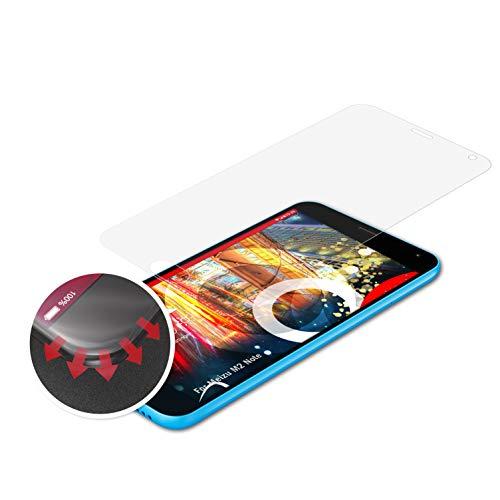 atFolix Schutzfolie passend für Meizu M2 Note Folie, entspiegelnde & Flexible FX Bildschirmschutzfolie (3X)