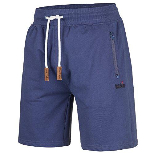 Mount Swiss Herren MS Short, Liam, Insignia-Blue, Gr. XL/Kurze Hose/Jogginghose/Sweatpants aus 100% Baumwolle