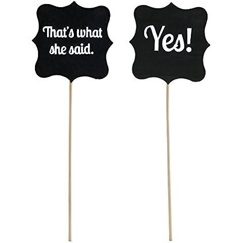 PIXNOR Boda de madera firma apoyos de la foto de boda decoración tablero de la muestra (That's What She Said/