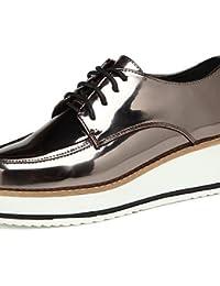 NJX/ hug Zapatos de mujer-Tacón Plano-Comfort / Punta Redonda-Oxfords-Exterior / Casual / Deporte-Materiales Personalizados-Azul / Rojo / Oro , golden-us8 / eu39 / uk6 / cn39 , golden-us8 / eu39 / uk6 / cn39