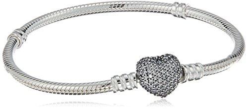 Pandora–bracciale in argento 925con zirconi bianco 18cm 590727cz 18