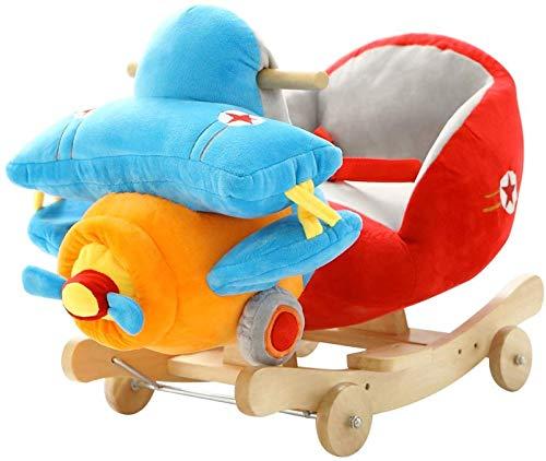 Rocker Correpasillos del caballo de oscilación Silla de bebé de juguete de madera 2 en 1 doble uso...