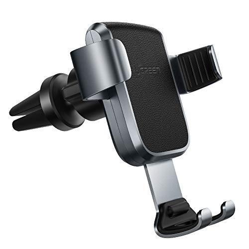 UGREEN handyhalterung Auto Lüftung Schwerkraft Autohalterung Handy 360°Drehbar Handyhalterung Lüftung Auto für iPhone X XS XR 8 7 KFZ Handyhalterung für Samsung S9 S8 S7 M20 A50 Huawei P20 MP3 usw