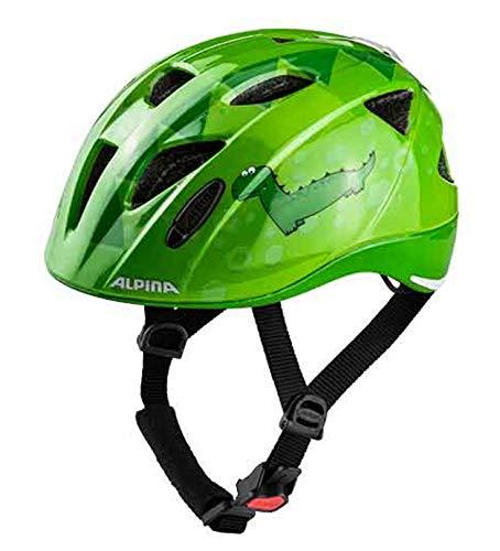 Alpina Ximo Flash Kinder Fahrradhelm - Green Dino, Kopfumfang:49-54 cm