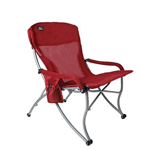 MUTANG en Plein air Ultra léger Chaise Pliante Portable Aluminium en Alliage de pêche Tabouret Directeur Chaise Peinture Chaise Rouge