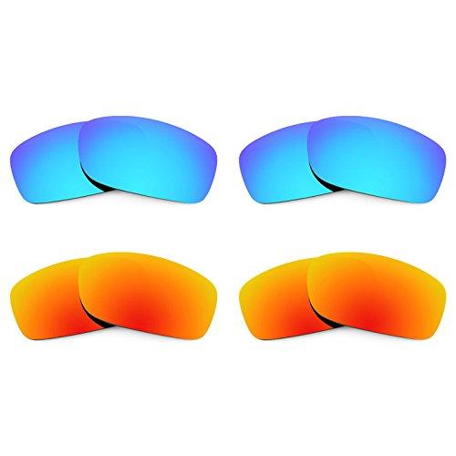 Revant Ersatzlinsen für Oakley Fives Squared Polarisiert 4 Paar Kombipack K022