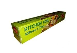 """1 x Aluminium Foil in Cutter Box 18"""" rolls 450mm x 75m"""