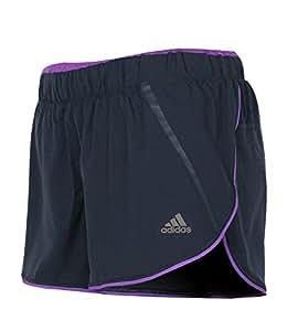 adidas Damen Climacool Laufshort AdiStar 4 Zoll Running Short (night shade-ray purple, XXS)