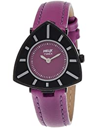Helix Triangle Analog Purple Dial Women's Watch - 15HL03