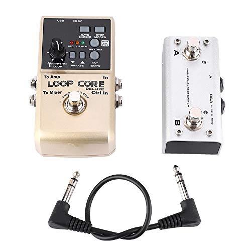 Gitarren-Effektpedal, Loop Core Deluxe-Gitarren-Looper, 8 Stunden Loop-Zeit 24-Bit-Audio Automatische Tempoerkennung mit integrierten 40-Drum-Rhythmen Tap-Tempo-Cab-Simulationsfunktionen