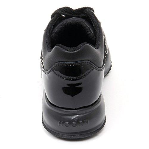 B8817 sneaker donna HOGAN CLUB INTERACTIVE scarpa nero borchie shoe woman Nero