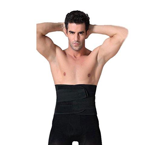 Zhiyuanan Herren Multifunktion Bauchweggürtel Gewicht Verlieren Stereotypen Körperformung Waist Shaper Bequem Atmungsaktiv Einstellbar Klettverschluss Bauchgürtel Abnehmen Schwarz XL