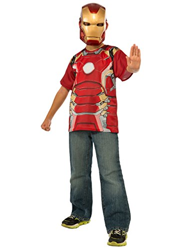Kostüm 7 Ironman Mark - Iron Man Mark 43Shirt Accessory Kit, Kids Avengers Age of Ultron Outfit, mittel, Alter 5-7