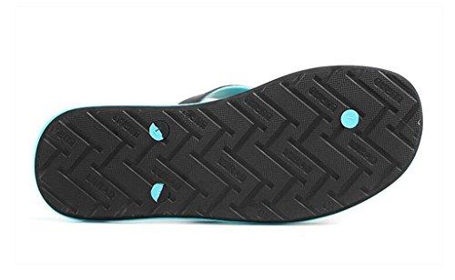 ALUK- Sommer Sandalen - Herren Hausschuhe Hausschuhe mit Europa und den Vereinigten Staaten Trend der Strand Schuhe ( Farbe : Schwarz , größe : 42 ) Schwarz