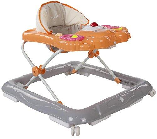 Sun Baby Bear - Andador para bebé con carritos de bebé, color naranja y gris
