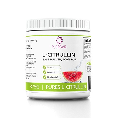 L Citrullin 100% Pure kein Malat, Vitalstoff,Fitness Booster, steigert Arginin Wirkung+Durchblutung, Muskelaufbau,Vegan, Base Pulver, Pur Prana