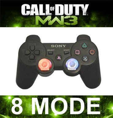 PS3 LED Lighting Up Dual Mod Rapid Fire Controller Dualshock3 COD5/6/7 MW3 MW2