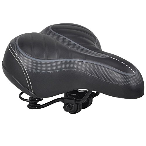 Yahee Fahrradsattel Fahrradsitz Tourensattel Radfahren Seat Bike mit große Sitzfläche 250 X 205 X 65 mm für Damen Herren schwarz