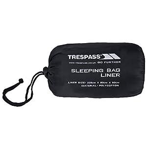41ENmRX7SyL. SS300  - Trespass Slumber, Grey, Sleeping Bag Liner 230cm x 85cm x 55cm, Grey