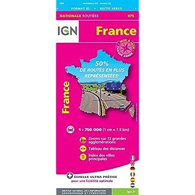 France Format XL recto-verso : 1/750 000