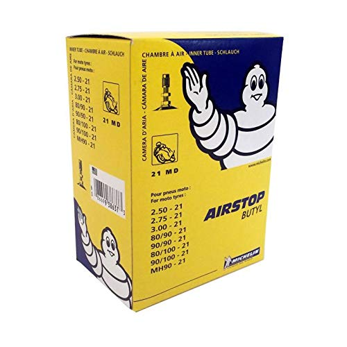 Chambre air moto Michelin 21 MD Valve TR4 (2.50-21, 2.75-21, 3.00-21, mh90-21, 80/90-21, 90/90-21, 80/100-21, 90/100-21)
