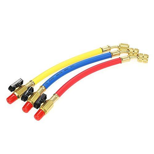 KKmoon 3pcs R134A R410A R22 R12 800 PSI Colector Calibre