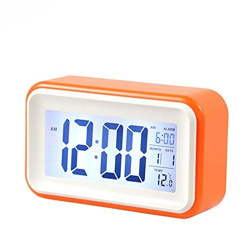 KHSKX Faul kleine Uhr sensible stumm Fashion Queen Studenten Strahlung super große leuchtende alarm orange (Queen Kostüme Kit)