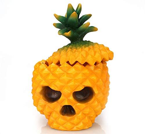 Koojawind Ananas Lagerung, Stilvolle Harz Ananas SchäDel Desktop Aufbewahrungsbox Organizer Tisch Dekor Ornamente Geschenk