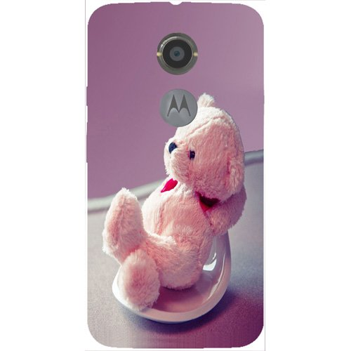 Casotec Cute Teddy Bear Design 3D Hard Back Case Cover for Motorola Moto X 2nd Generation  available at amazon for Rs.199