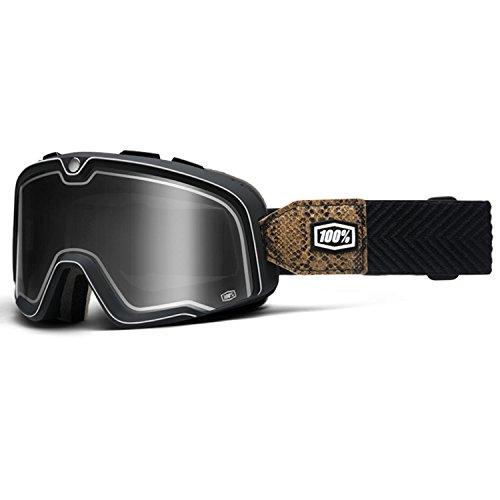 100% BARSTOW SNAKE RIVER Classic Crossbrille - schwarz weiss Größe UNI