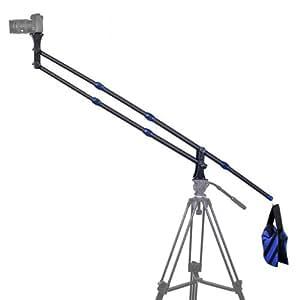 TARION RL 1820 mm Bras télescopique/ bras dslr en Fibre de carbone + contrepoids/sandbag (sac de sable) pour studio vidéo/photo, VD, camera de surveillance, trépied girafe, appareil photo reflex canon 5d mark iii, canon 5d mark 2(ii) etc. (Charge maximal: 2 kg)
