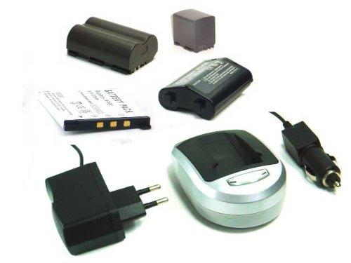 [Digitalkamera/ Camcorder Zubehör] Li-Ion Akku + Ladegerät (Netzteil & Kfz-Adapter) für KODAK EASYSHARE DX7590 Dx7590 Digital Camera
