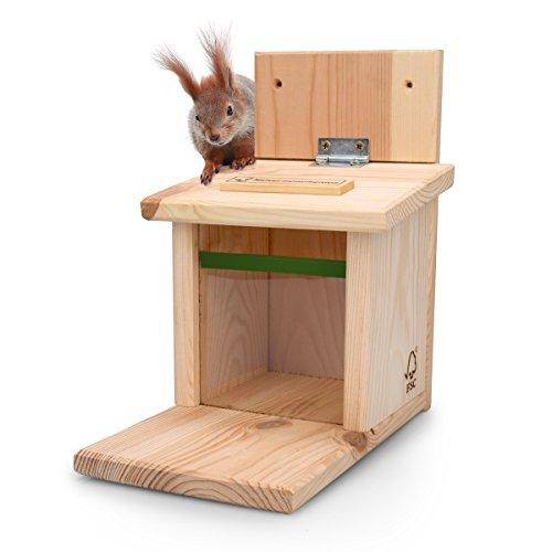 NEU - Eichhörnchen Futterhaus von AniForte ® incl. Eichhörnchenfutter, naturbelassenes Eichhörnchenhaus Eichhörnchenfutterhaus Eichhörnchenfutterstation