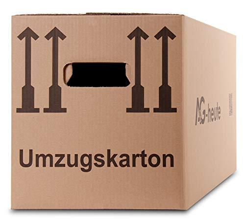 15 Umzugskartons Faltkartons Umzugskisten Movebox 2-wellig doppelter Boden Profi 600 x 330 x 340mm von A&G-heute