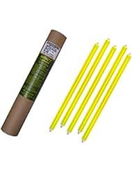 Cyalume Tube de 5 Bâtons Lumineux SnapLight IMPACT 40cm Jaune 2 Anneaux 12 heures 15'' Non-Emballés Individuellement