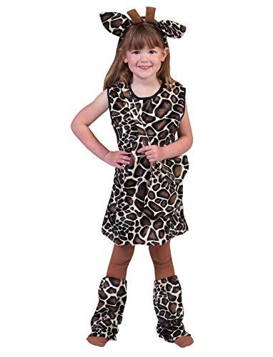 Pierro´s Kostüm Kleid Giraffe Asali Kind Größe (Für Kleid Kinder Tier)