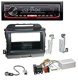 caraudio24 JVC KD-X262 1DIN MP3 USB AUX Autoradio für Kia Sportage 3 (Navi ab 10) schwarz