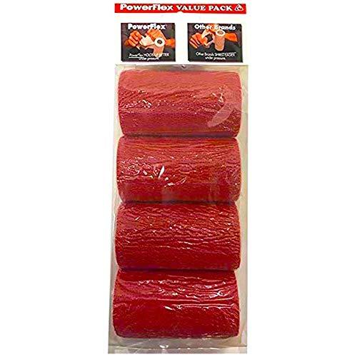 Powerflex Bandage, 10 cm, Rot 4 Stück Pferdetier groß