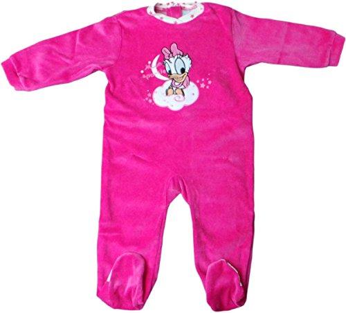 Disney Baby Daisy Duck Pyjama/Schlafanzug/Strampler - Mond Glitzern - Pink/Mehrfarbig -