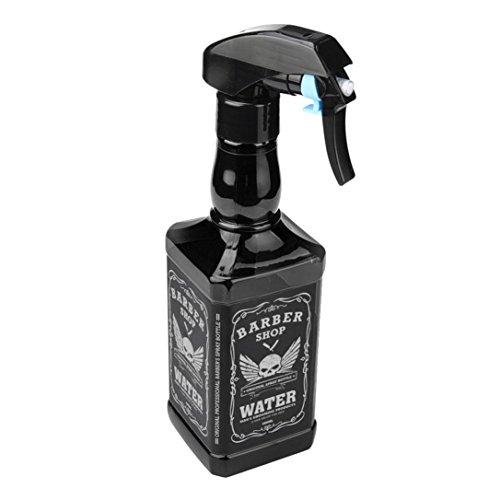 Bouteille de pulvérisation de coiffure,500ml coiffure Spray bouteille salon de coiffure outils de pulvérisation d'eau bouteille by LHWY (noir)