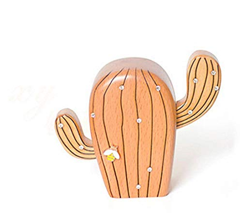 RongDuosi Bread Tree/Cactus Music Box Spieluhr - Bread Tree/Cactus Log Zubehör Hauptdekorationen für Wohnzimmer (Style : Cactus)
