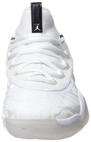 Nike Jordan Super.Fly 2017 Low, Chaussures de Basketball Homme Blanc (White/Black-Metallic Silver 110)