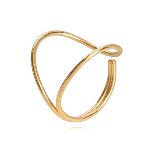Louise Kragh Damenring Enamel Kreis-Ring Variable Größe Silber 24 Karat vergoldet R-ENA0403g