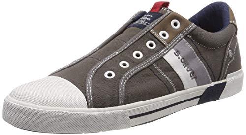 s.Oliver Herren 5-5-14603-22 200 Slip On Sneaker Grau (Grey 200), 44 EU