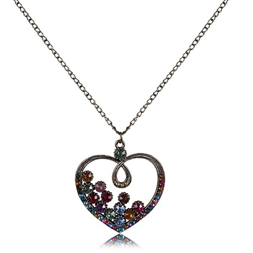 sino-valentines-gift-heart-round-rhinestone-bling-pendant-gold-chain-necklace
