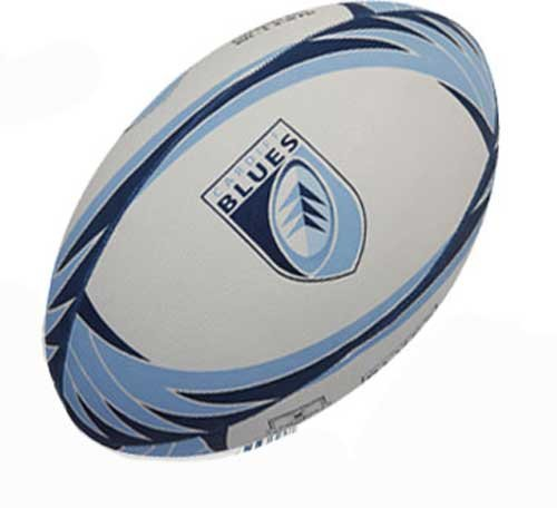 GILBERT Cardiff Blues Replica Mini Rugby Ball , Mini