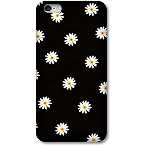 iPhone 6S Custodia, iPhone 6/6S Custodia Floreale Dipinto Serie 3H 3d painting pattern rivestimento in gomma olio Shock-Absorption Bumper Cover Protettiva in Plastica per iPhone 6/6S 4.7 pollici, PLASTICA, Daisy, iPhone 6/6S